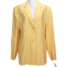 NEW Talbots Irish Linen Blazer Jacket, Sunflower Yellow, Fully Lined, Size 12