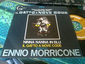 7'' 45 GIRI OST ENNIO MORRICONE IL GATTO A NOVE CODE ZGE 50167