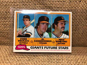 Signed 1981 Topps #502 Hargesheimer Rowland Bourjos ALL AUTOGRAPHED