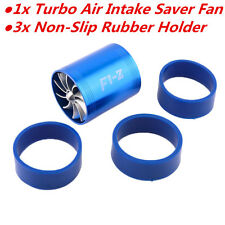 Car Air Intake Turbonator Single Fan Engine Turbine Super Charger Gas Fuel Saver