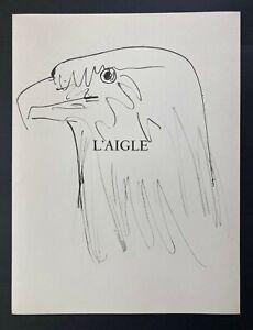 Pablo Picasso Original 1957 Lithograph 26/266 + The Eagle