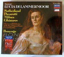 LUCIA DI LAMMERMOOR - SUTHERLAND, PAVAROTTI, MILNES - BONYNGE - 3 CD Sigillato
