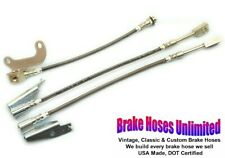 STAINLESS BRAKE HOSE SET Lincoln Continental Town Car 1970