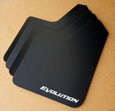 [SR] 03-15 Lancer EVO Evolution 8 9 X STARTER Mud Flaps Set BLACK w/ Vinyl Logo