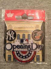 2014 Opening Day Pin #1 Yankee Stadium New York Yankees Baltimore Orioles Aminco