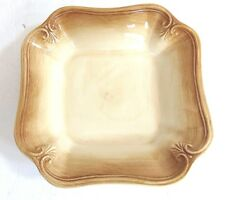 LENOX china COLORE SIENA BROWN pattern Square Salad, Soup or Pasta Bowl - 9-1/4""