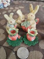 10 Pc Childrens Minature Bunny And Carrot Tea Set