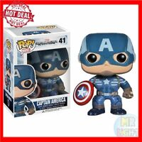 Official FUNKO POP Captain America #41 Marvel Avengers Collectible Toy Exclusive