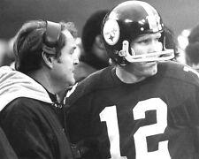Pittsburgh Steelers TERRY BRADSHAW & CHUCK NOLL Glossy 8x10 Photo Print