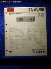 Sony Service Manual TA AV590 Amplifier (#3660)