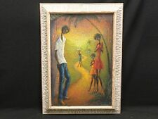 MAGNIFICENT 60's LARGE HAITIAN PAINTING By THEARD