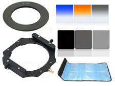 6 filter ND2 ND4 ND8 + Gradual Orange Blue Holder 55mm Ring adapter 100mm filter