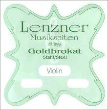 Lenzner Goldbrokat 4/4 Violin String Set - Medium Gauge with Loop End E