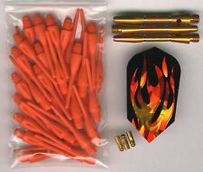 """THE HEAT"" Soft Tip Dart Upgrade Kit: Burnt Orange Tips, Gold Shafts & More"