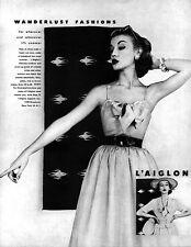 L'Aiglon Wanderlust Fashions BARE-TOP SUNDRESS Cover-Up Jacket 1952 Magazine Ad