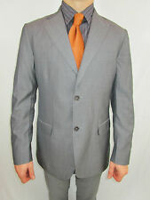Massimo Dutti Seda de lana para hombre a medida Traje Chaqueta Blazer De Rayas Tweed EU52 AS9