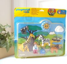 Playmobil 1-2-3 6745 Wild Animal Monkey Zebra Lion Giraffe Puzzle-n-Play Toys