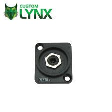 Cliff 3.5mm Mono Jack Chassis Socket. Nylon D-Type Mini Jack Connector. Solder