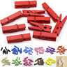 20~100 Mini DIY Wooden Clothes Photo Paper Pegs Clothespin Cards Craft Clips PL