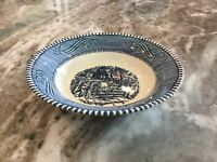 """CURRIER AND IVES BLUE by Royal (USA) FRUIT/DESSERT (SAUCE) BOWL 5 5/8"""""""