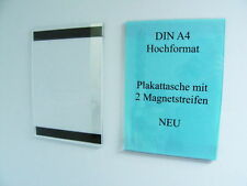 10 DIN A4 HÄNGEDISPLAY M. MAGNETSTREIFEN PLEXI PLAKATTASCHE DISPLAY MAGNET GLAS
