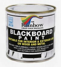 Rainbow Black Blackboard Chalkboard Paint - 250ml. For Interior & Exterior Use