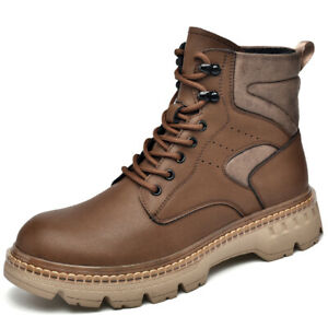 New Mens High Top Motorcycle Ankle Boots Shoes Outdoor Trekking Non-slip Walking