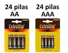 48 PILAS EXTRASTAR 24 PILAS AA LR06 + 24 PILAS AAA LR03, Envio España