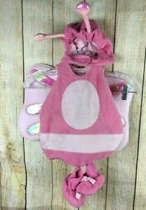 Children's Place Plush Butterfly Costume Infant 0-6 Mos Halloween Pink Set #888