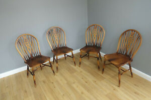 4 Windsor Wheelback Stühle Stuhl Landhaus
