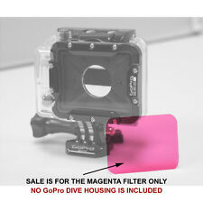 GoPro HERO 1 & 2 Dive Flat Lens Housing Magenta Colour Correction Filter - New!