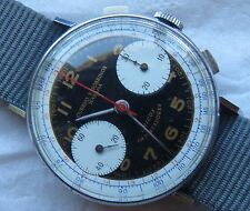 Cuervo y Sobrinos chronograph mens wristwatch cal. Valjoux 22 refinished dial