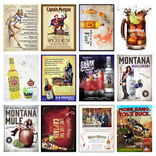 Alcohol Retro Metal Signs/Plaques Man Cave, Cool Novelty Gift, Bar/ Pub