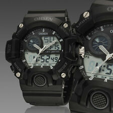 Ohsen G Style Mens Water Proof Shock Military Army Digital Sport Watch Quartz Black
