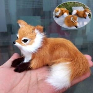 Realistic Simulation Animal Sitting Fox Plush Kids Toy Doll Photography Decor AU
