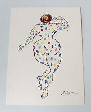 Federico Fellini 'La Citta delle donne' 1980 ink and watercolor sketch - signed