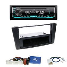 JVC DAB+ Radio Toyota Avensis (T25) 2-DIN Blende schwarz mit Fach +LFB-Adapter