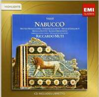 Riccardo Muti - Verdi : Nabucco Neuf CD