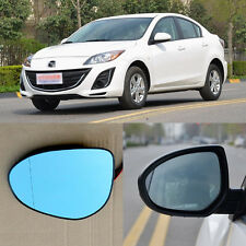 Rear View Mirror Blue Glasses LED Turn Signal Power Heating For Mazda 3
