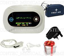 CE Electronic Visual Stethoscope,Free SpO2 probe Heart Rate ECG waveform, CMS-VE