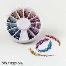 Nailart-Rondell-Strass-Mix-6 irisierende Farben-2mm Durchmesser-1702-031