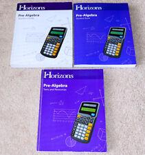 Horizons (7th grade) Pre Algebra SET - Teacher's Guide & Student Workbook/Tests