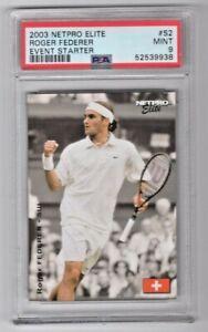 2003 Netpro Elite Tennis Roger Federer Event Starter White Shirt RC #S2 PSA 9