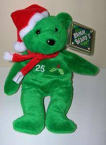 """RARE Mark McGWIRE #25 MLB Holiday 1998 Salvino's Bamm Beano's Beanie Bear 8"""""""