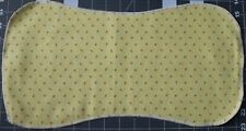 New Flannel Burp Cloths Large Soft 2 Layer Handmade Yellow Flowers
