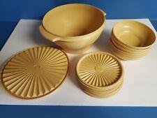 Vtg Tupperware Salad Cereal Bowl Set Harvest Gold 881-5 880-6 808-6 890-32 Look