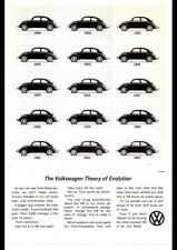 """1963 VOLKSWAGEN VW BEETLE EVOLUTION AD A4 CANVAS PRINT POSTER 11.7""""x8.3"""""""