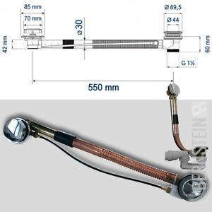 Wannenablauf für Einbaubadewannen Ab- Überlaufgarnitur Siphon Überlauf Chrom