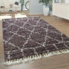 Teppich Lila Hochflor Wohnzimmer Violet Weich Orient Muster Flauschig Robust