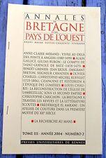 Extrait des Annales de Bretagne et des Pays de l'Ouest, 2004, tome 111, n°2...